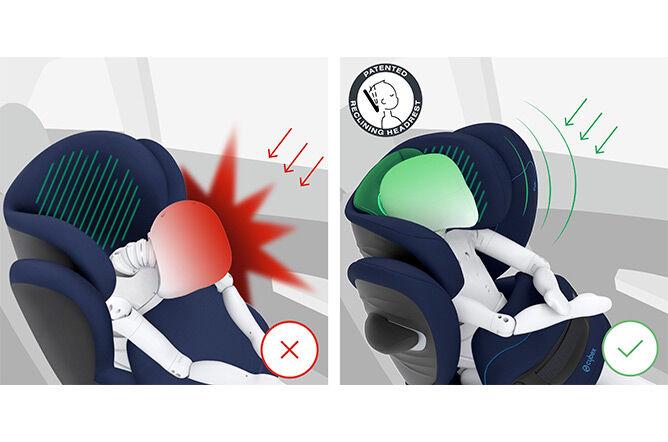 Patentierte Kopfstütze