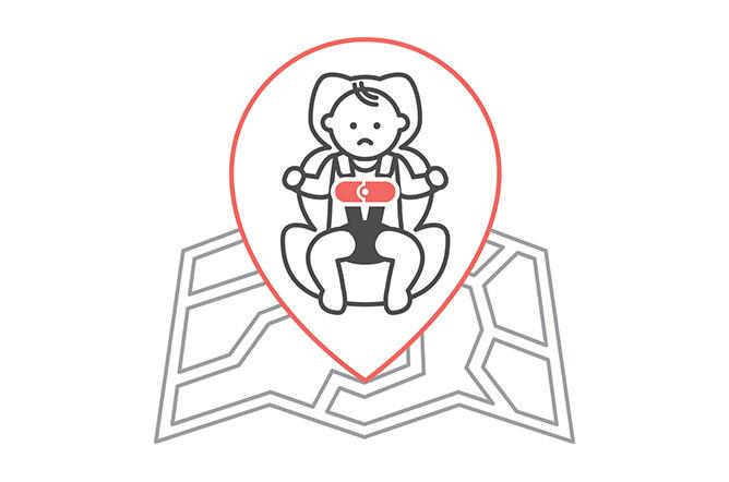 Kind alleine im Auto Warnung