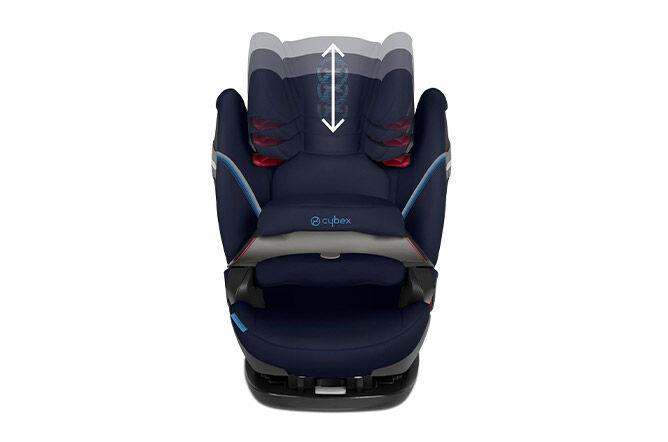 12-fach höhenverstellbare Komfortkopfstütze