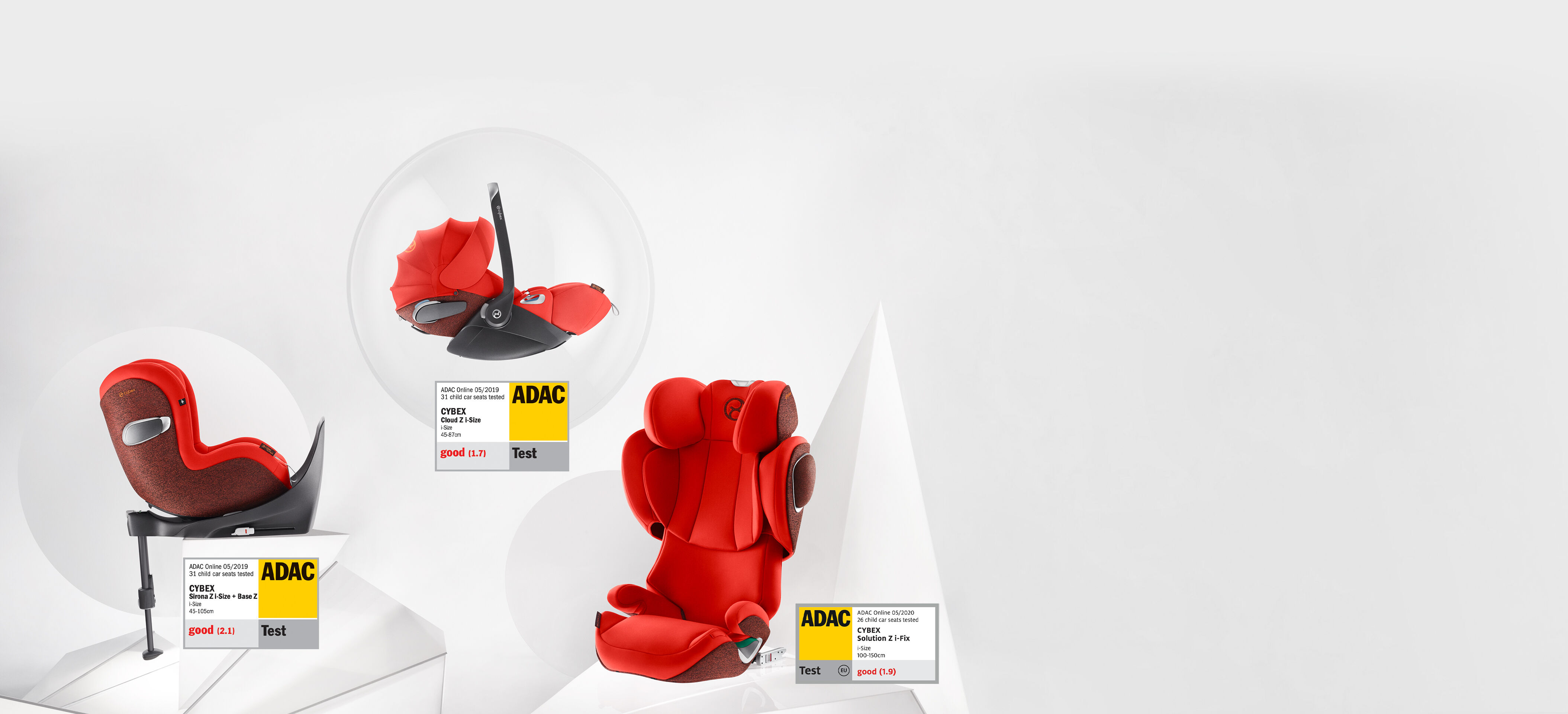 Cybex Platinum Triple Awarded Car Seat Family Banner Image