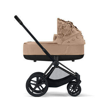 Cybex Platinum Simply Flowers Priam Lux Carry Cot Kinderwagen Nude Beige