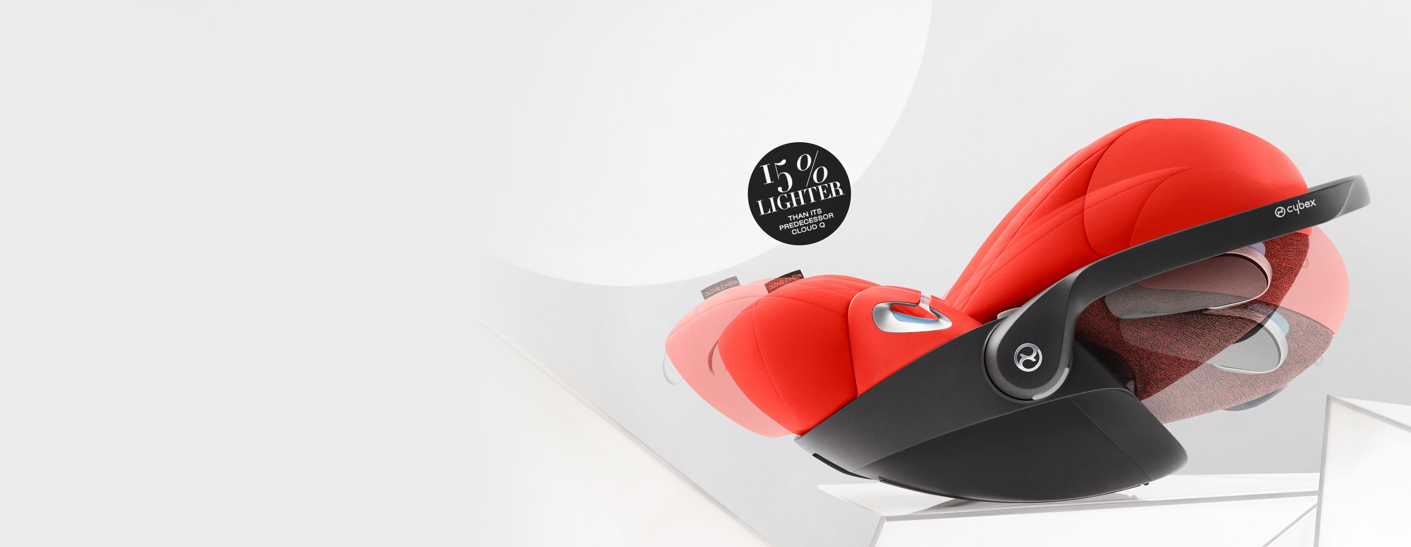 Cybex Platinum Cloud Z i-Size Car Seats Ergonomic Lie-Flat Position Banner