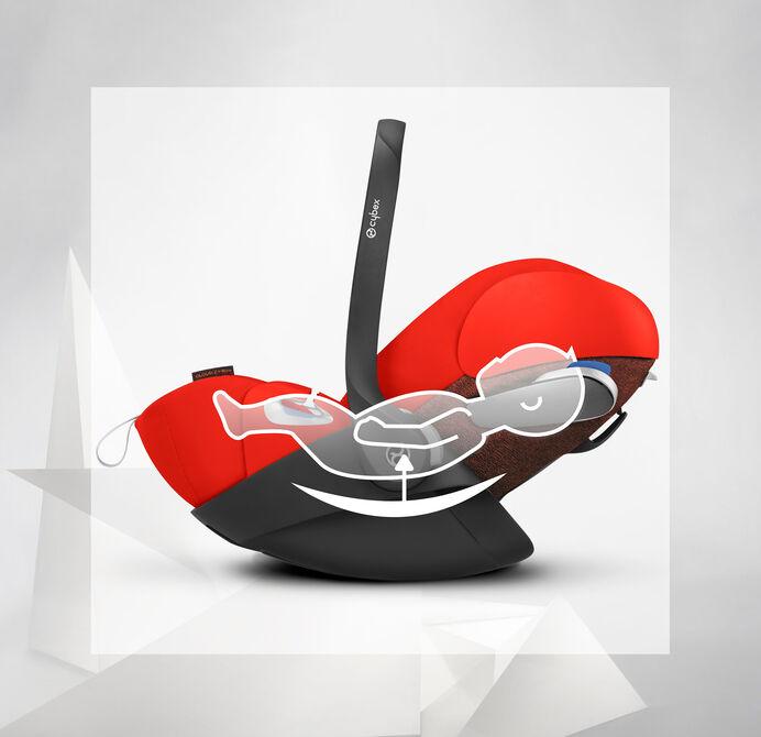 Cybex Platinum Cloud Z i-Size Kindersitze Herausnehmbare Neugeborenen-Einlage Bild