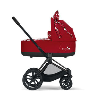 Cybex by Jeremy Scott Petticoat Kollektion Priam Rahmen mit Priam Lux Carry Cot Produkt Bild