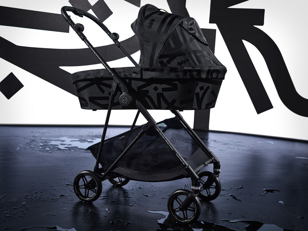 Cybex Gold Melio Street Stroller Campaign Image Real Black
