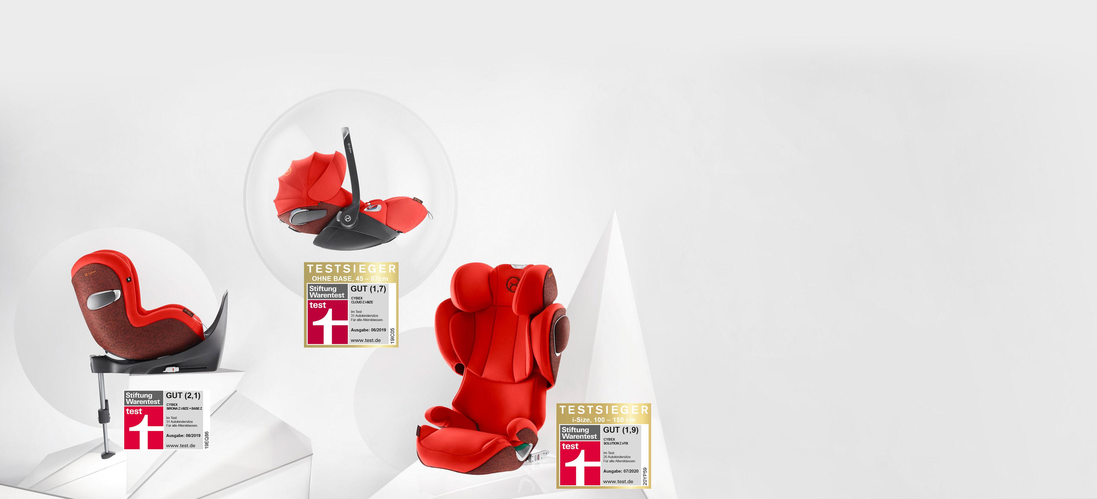 Cybex Platinum Dreifach Ausgezeichnete Kindersitz-Familie Banner Bild