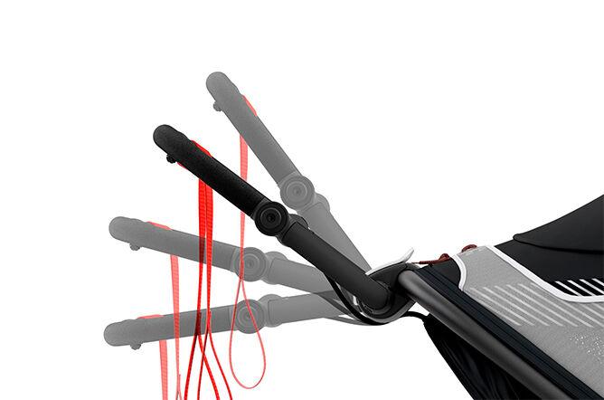 Ergonomic, adjustable handlebar