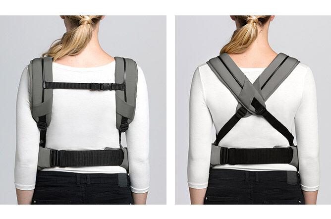 Comfortably padded shoulder straps