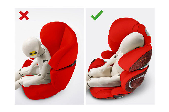 Helps to prevent the child's head from falling forward when asleep