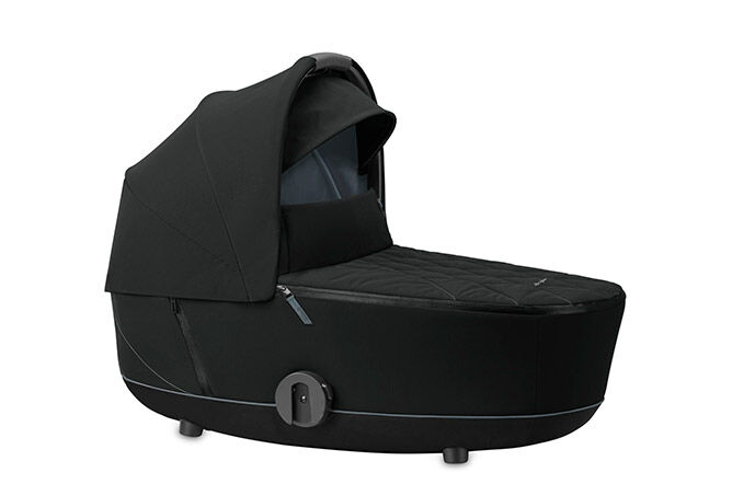 Sun canopy with integrated carry handle