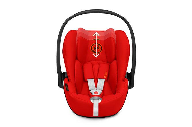 Height-adjustable headrest