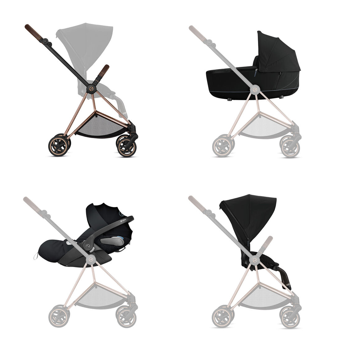 CYBEX Configure Mios Set: Frame, Lux Carry Cot, Cloud Z i-Size, Seat Pack in  large image number 1