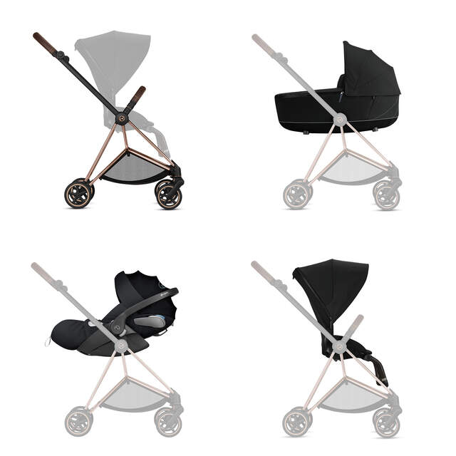 Konfiguration Mios Set: Rahmen, Lux Carry Cot, Cloud Z i-Size, Sitzpaket