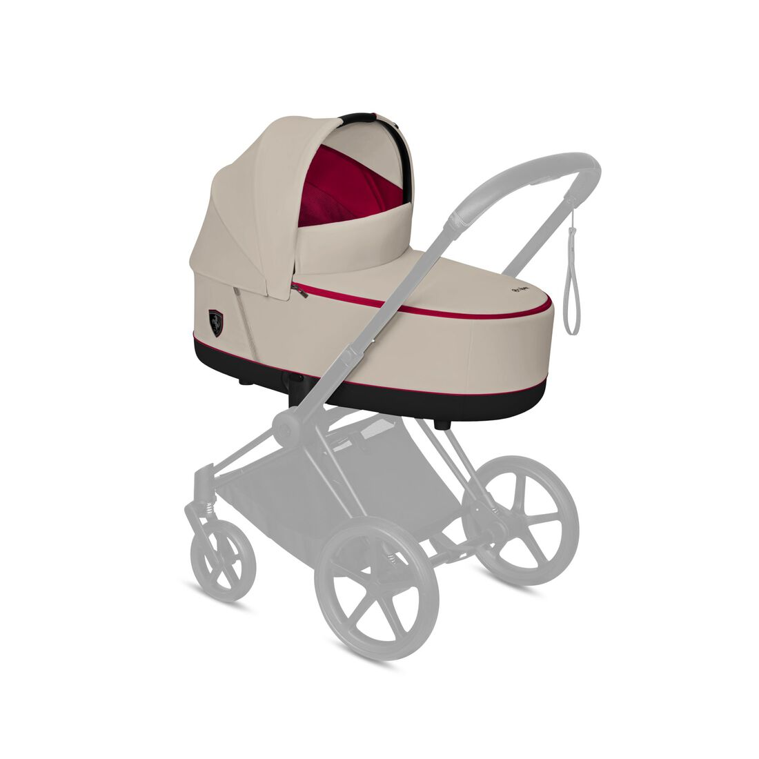CYBEX Priam Lux Carry Cot - Ferrari Silver Grey in Ferrari Silver Grey large Bild 4