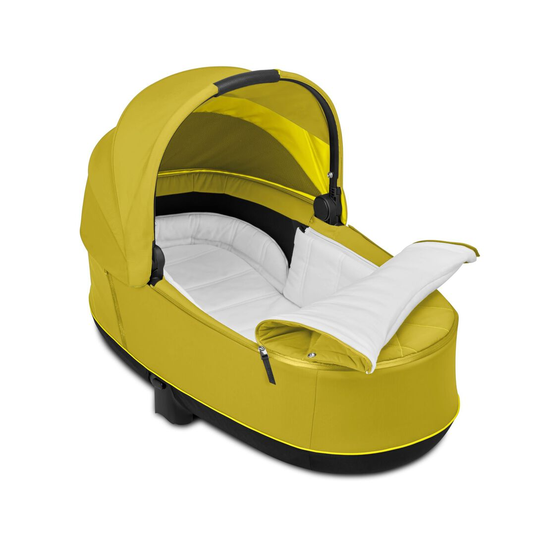 CYBEX Priam Lux Carry Cot - Mustard Yellow in Mustard Yellow large image number 3