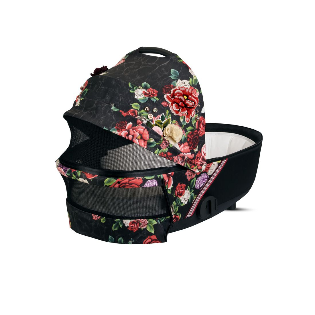 CYBEX Mios Lux Carry Cot - Spring Blossom Dark in Spring Blossom Dark large image number 3