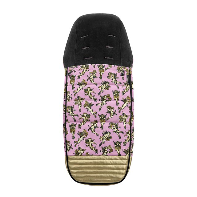 Platinum Footmuff - Cherubs Pink