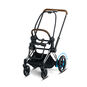 CYBEX e-Priam Frame - Chrome With Brown Details in Chrome With Brown Details large image number 1 Small