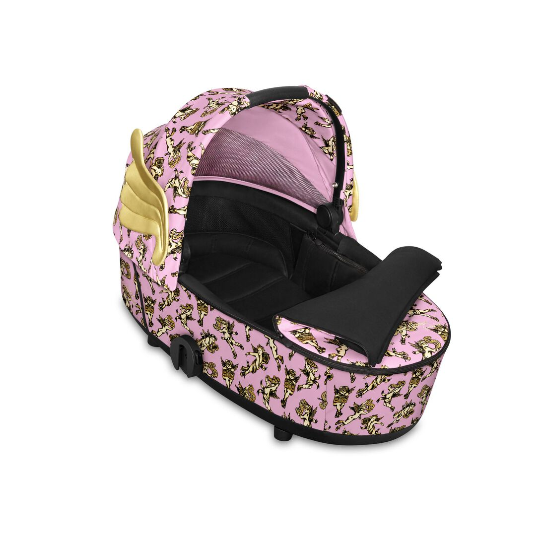 CYBEX Mios Lux Carry Cot - Cherubs Pink in Cherubs Pink large image number 2