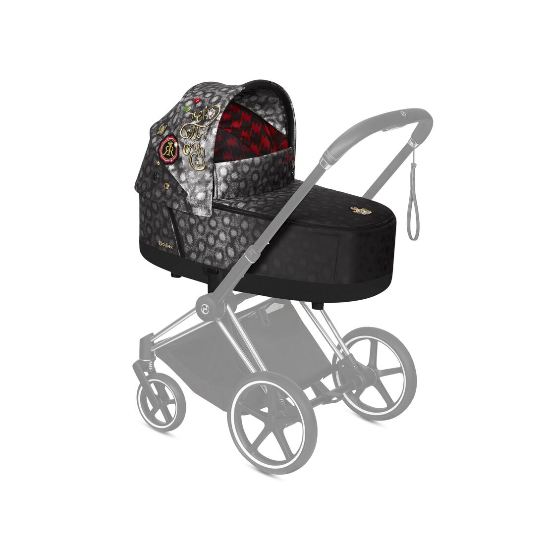 CYBEX Priam Lux Carry Cot - Rebellious in Rebellious large image number 4