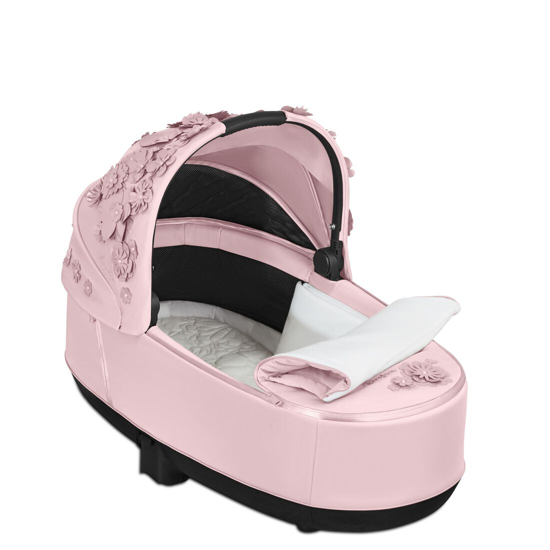 CYBEX Priam Lux Carry Cot - Pale Blush in Pale Blush large image number 3
