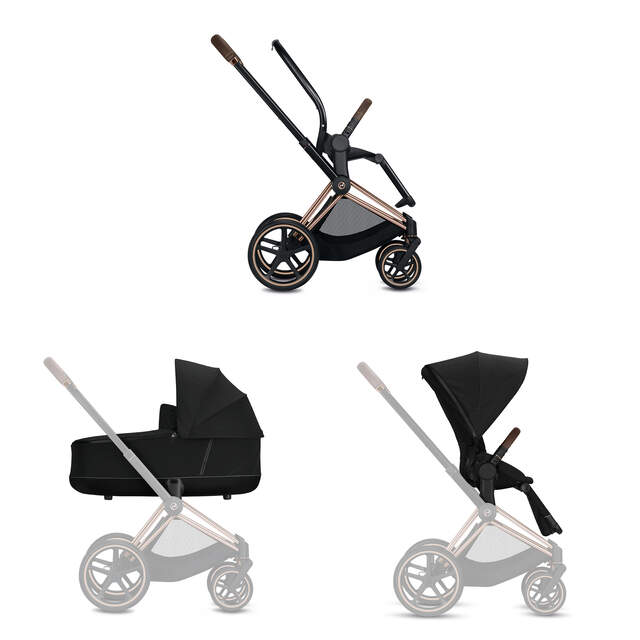 Konfiguration Priam Set: Rahmen, Lux Carry Cot, Sitzpaket