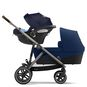 CYBEX Gazelle S - Navy Blue (Taupe Frame) in Navy Blue (Taupe Frame) large image number 3 Small
