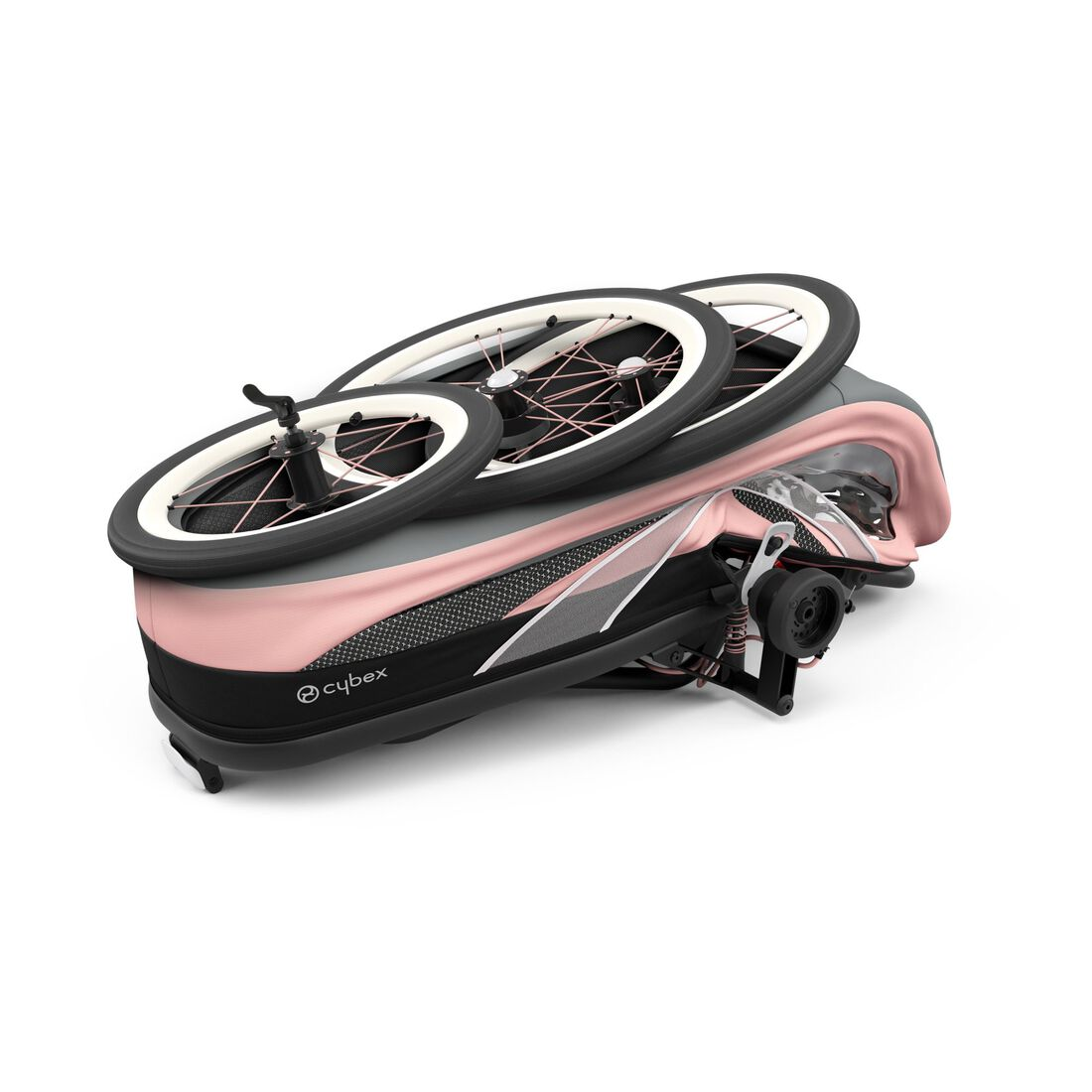 CYBEX Zeno Frame - Black With Pink Details in Black With Pink Details large image number 6