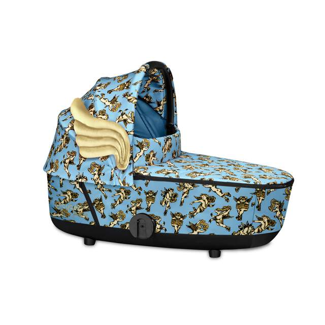 Mios Lux Carry Cot - Cherubs Blue