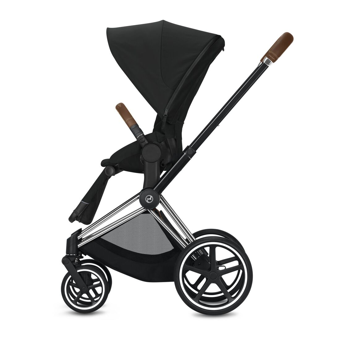 CYBEX Priam Frame - Chrome With Brown Details in Chrome With Brown Details large image number 3