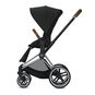 CYBEX Priam Frame - Chrome With Brown Details in Chrome With Brown Details large image number 3 Small