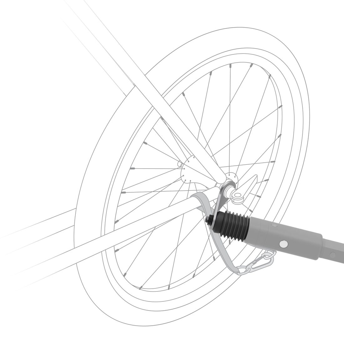 CYBEX Fahrradkupplung - Black in Black large Bild 2