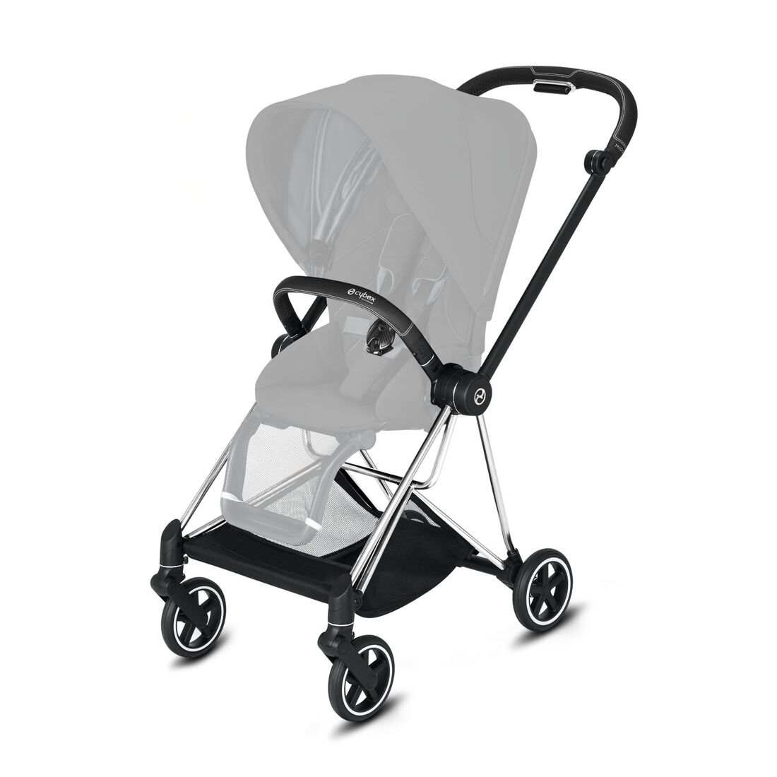 CYBEX Mios Frame - Chrome With Black Details in Chrome With Black Details large image number 2
