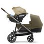 CYBEX Gazelle S - Classic Beige (Taupe Frame) in Classic Beige (Taupe Frame) large image number 3 Small