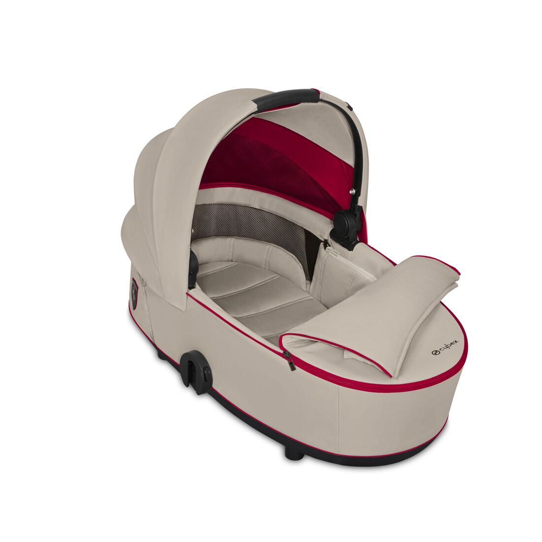 CYBEX Mios Lux Carry Cot - Ferrari Silver Grey in Ferrari Silver Grey large image number 2