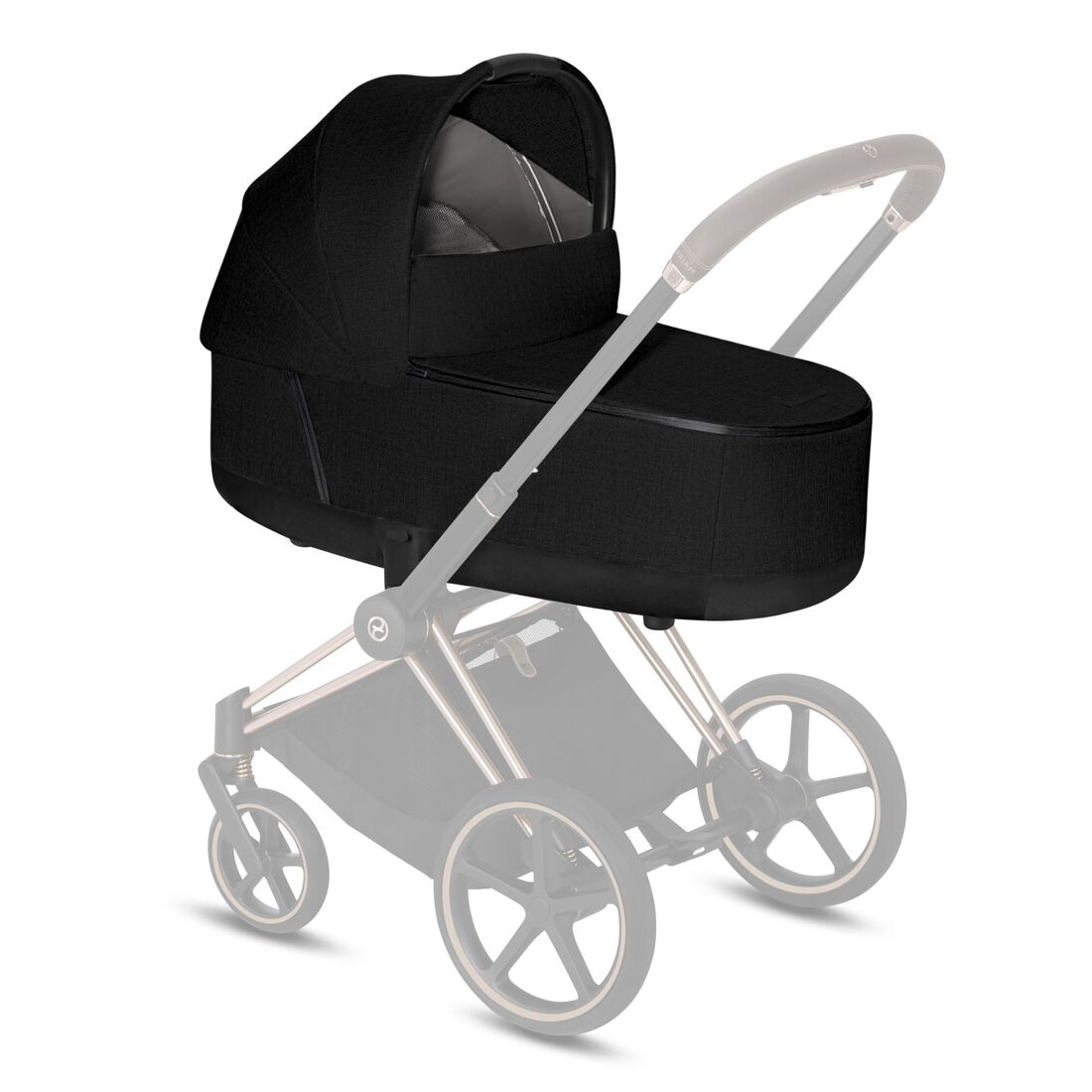 CYBEX Priam Lux Carry Cot - Stardust Black Plus in Stardust Black Plus large image number 2