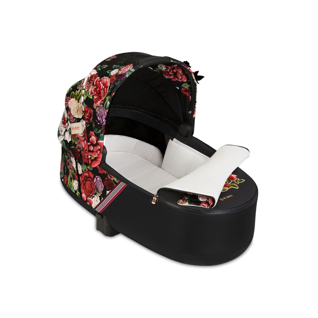 CYBEX Priam Lux Carry Cot - Spring Blossom Dark in Spring Blossom Dark large image number 2