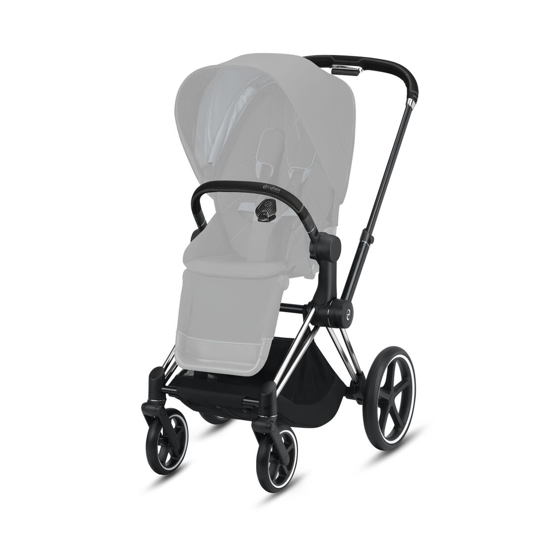 CYBEX Priam Frame - Chrome With Black Details in Chrome With Black Details large image number 2