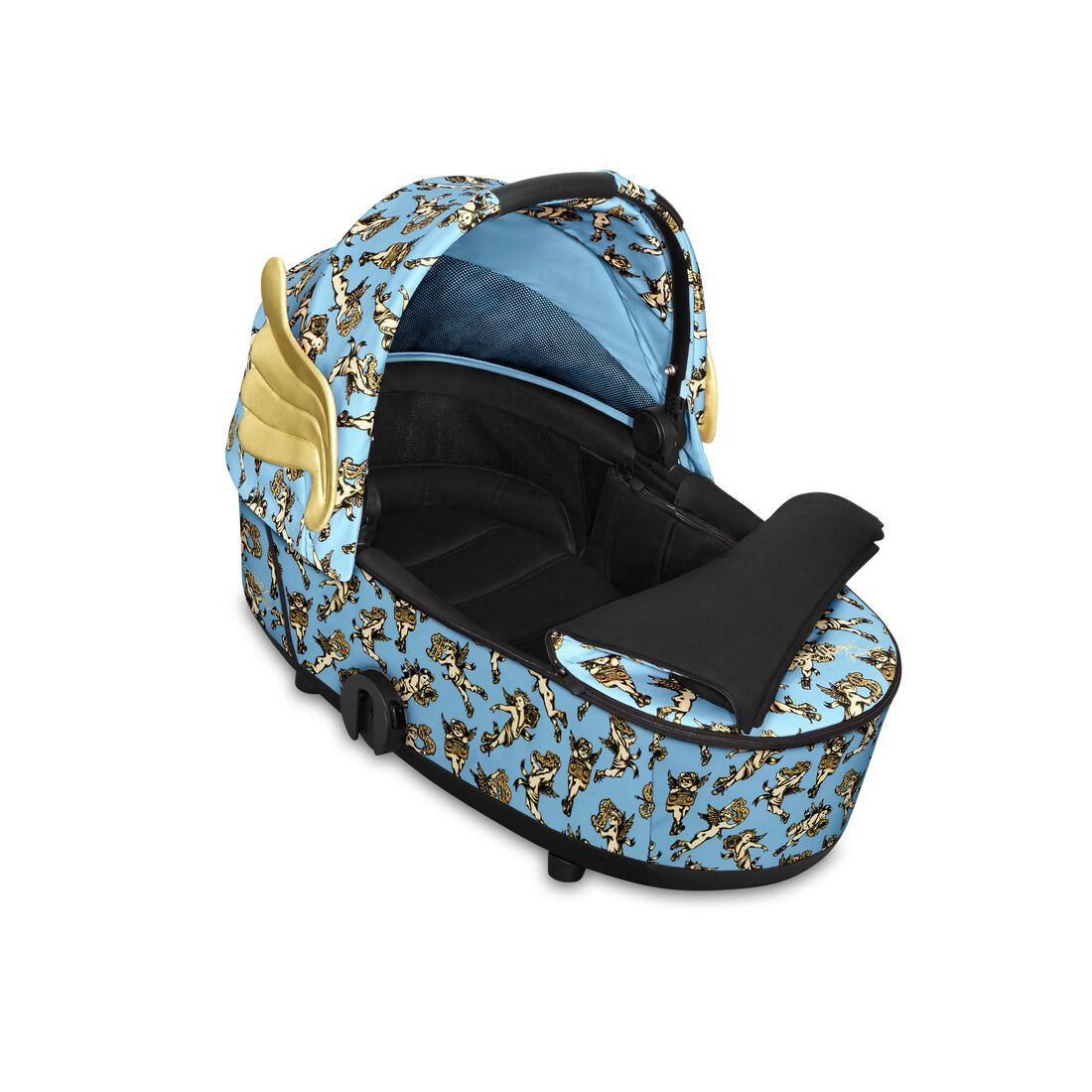 CYBEX Mios Lux Carry Cot - Cherubs Blue in Cherubs Blue large image number 2