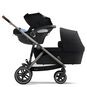 CYBEX Gazelle S - Deep Black (Taupe Frame) in Deep Black (Taupe Frame) large image number 3 Small