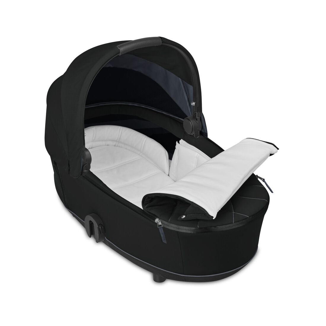 CYBEX Mios Lux Carry Cot - Deep Black in Deep Black large image number 2