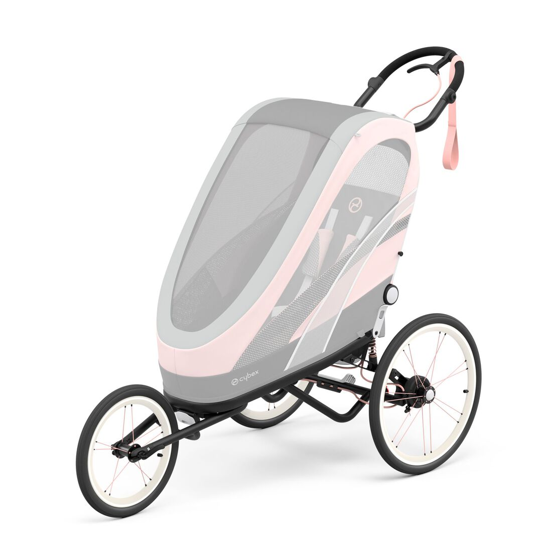 CYBEX Zeno Frame - Black With Pink Details in Black With Pink Details large image number 2