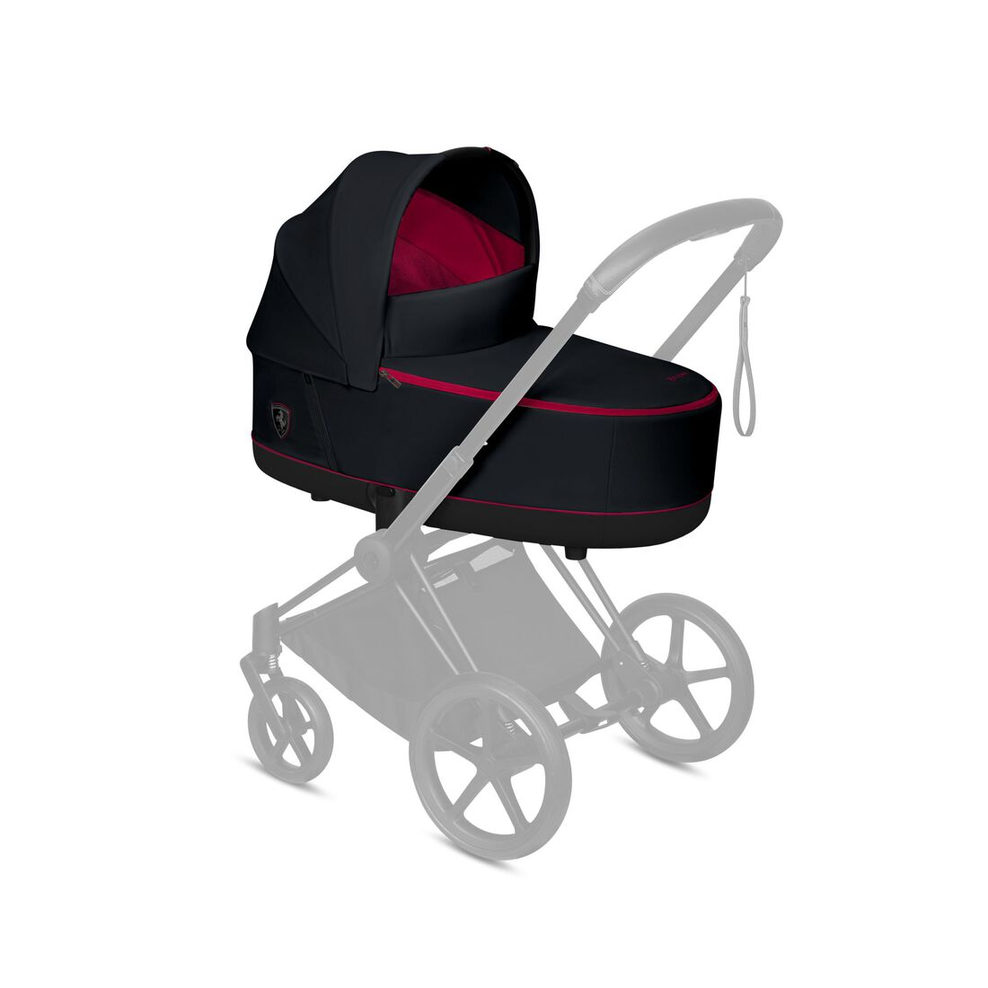 CYBEX Priam Lux Carry Cot - Ferrari Victory Black in Ferrari Victory Black large image number 4