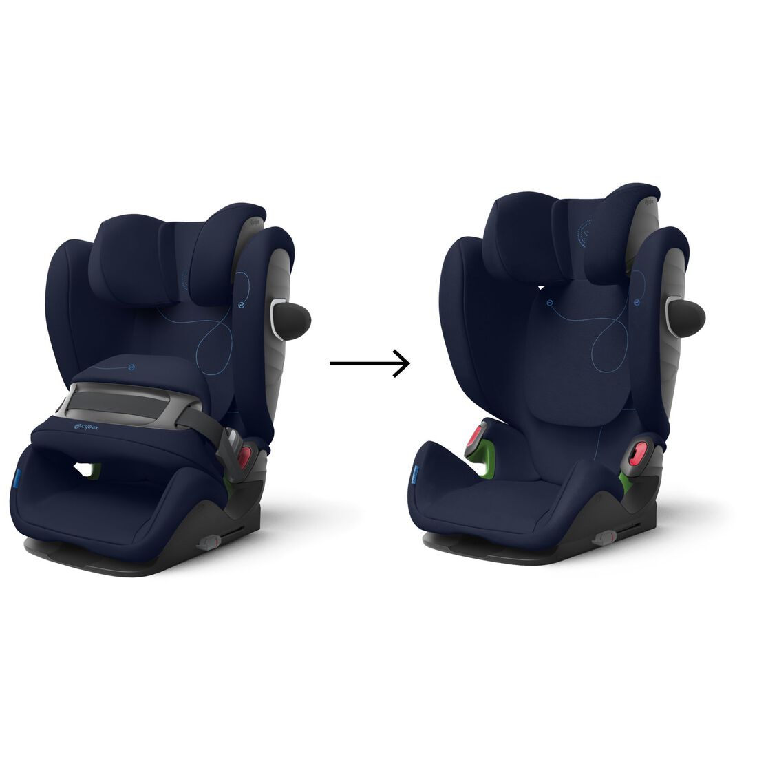 CYBEX Pallas G i-Size - Navy Blue in Navy Blue large image number 6