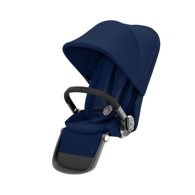 Gazelle S Sitzeinheit - Navy Blue (Schwarzer Rahmen)