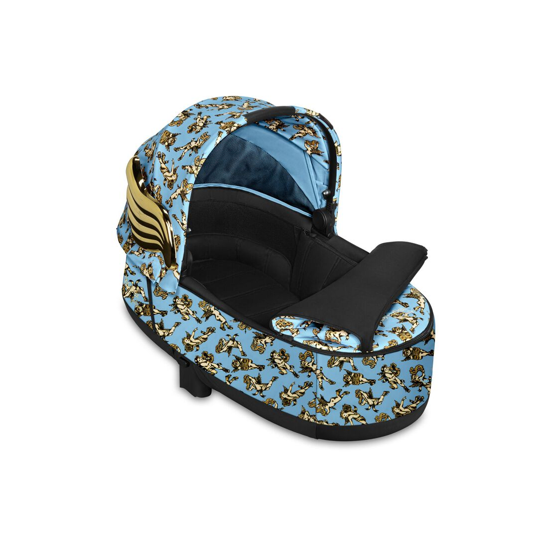 CYBEX Priam Lux Carry Cot - Cherubs Blue in Cherubs Blue large image number 2