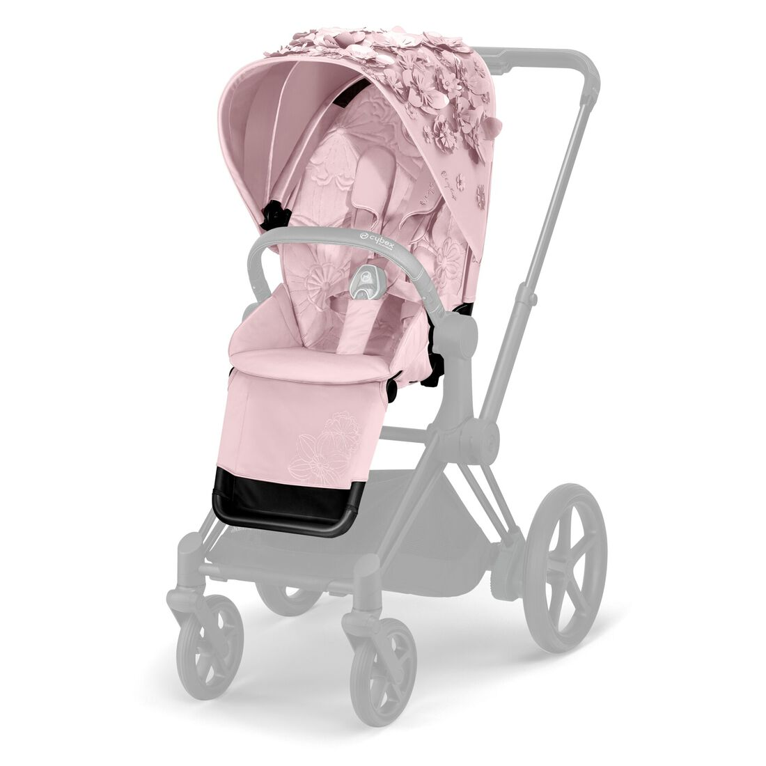 CYBEX Priam Sitzpaket - Simply Flowers Pink in Pale Blush large Bild 1
