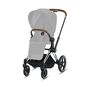 CYBEX Priam Frame - Chrome With Brown Details in Chrome With Brown Details large image number 2 Small