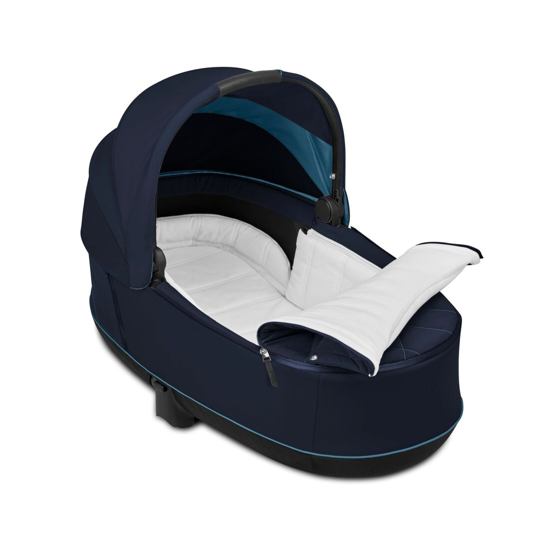 CYBEX Priam Lux Carry Cot - Nautical Blue in Nautical Blue large image number 3