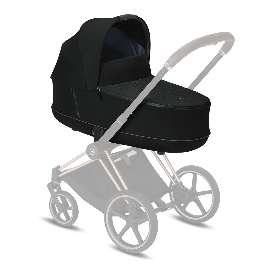 CYBEX Priam Lux Carry Cot - Deep Black in Deep Black large image number 5